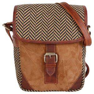 Upcycled Leather Crossbody Messenger Bag